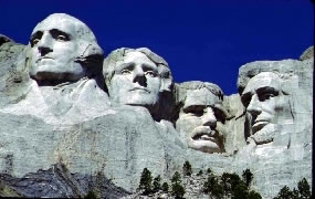 A photo of the 4 faces carved on Mt. Rushmore - Link to Mt. Rushmore National Park